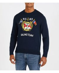Nautica - Big & Tall Graphic Crewneck Long-sleeve Sweater - Lyst