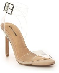 5440a03f84 Gianni Bini Valara Suede Ankle Strap Pumps in Natural - Lyst