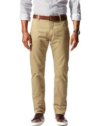 Dockers - Alpha Khaki Slim Tapered Stretch Twill Flat Front Pants - Lyst