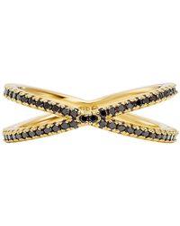 Michael Kors - Custom Kors Sterling Silver Onyx Nesting Ring - Lyst