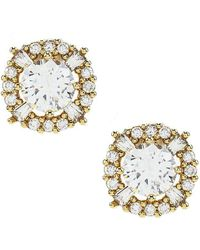 Anne Klein - Elevated Cubic Zirconia Stud Earrings - Lyst