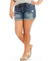 Silver Jeans Co. - Plus Sam Denim Shorts - Lyst