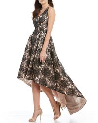 CALVIN KLEIN 205W39NYC - Floral Embroidered Hi-low Gown - Lyst