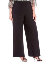 Alex Evenings - Plus Size Matte Jersey Wide Leg Long Pant - Lyst