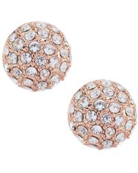 Givenchy - Rose Gold Pav Button Statement Earrings - Lyst