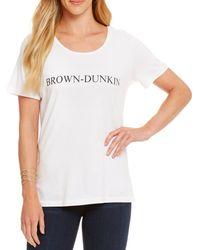 "Heritage - ""brown-dunkin"" Logo Tee - Lyst"