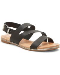 f3a0995202b Lyst - Jessica Simpson Grile Flat Thong Sandals in Black