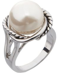 Dillard's - Boxed Collection Faux-pearl Stone Rope Ring - Lyst