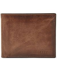 Fossil - Derrick Leather Rfid-blocking Passcase - Lyst