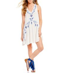 Free People - Adelaide Festival Lace Up Slip Dress - Lyst