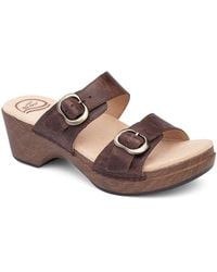 Dansko | Sophie Vintage Leather Double Banded Sandals | Lyst