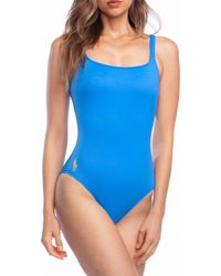 aca921eff1 Polo Ralph Lauren - Modern Solid Martinique One Piece Swimsuit - Lyst