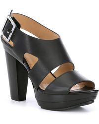 ffd308c4d22 MICHAEL Michael Kors - Carla Vachetta Leather Platform Sandals - Lyst
