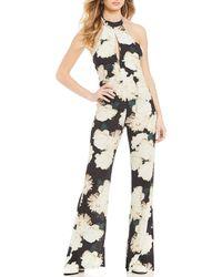 d263d0c5bddc Flynn Skye - Eliana Halter Floral Print Jumpsuit - Lyst