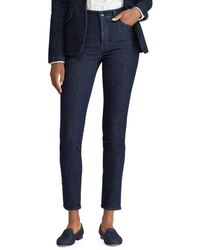 Lauren by Ralph Lauren - Striped Regal Skinny Ankle Jeans - Lyst