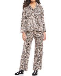 Karen Neuburger - Leopard Print Microfleece Pajamas & Socks Set - Lyst