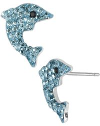 Betsey Johnson - Pavé Dolphin Stud Earrings - Lyst