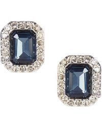 Lauren by Ralph Lauren - Blue Stone Stud Earrings - Lyst