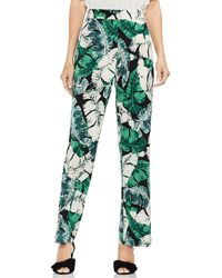 Vince Camuto - Tropical Jungle Palm Print Pull On Pant - Lyst