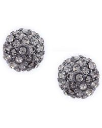 Lauren by Ralph Lauren - 8mm Pave Fireball Stud Earrings - Lyst