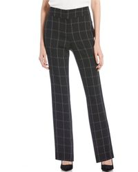 Kasper - Stretch Crepe Windowpane Plaid Straight Leg Pant - Lyst