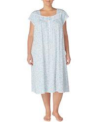 2919b57a36 Macy s · Eileen West - Plus Floral Scroll-print Waltz Jersey Nightgown -  Lyst