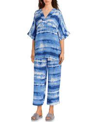 N By Natori - Tie-dye Print Challis Pajama Set - Lyst