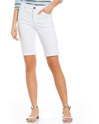 Jones New York | Lexington Soft White Stretch Denim Bermuda Shorts | Lyst
