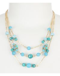 Anne Klein - Frontal Necklace - Lyst