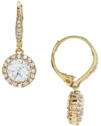 Nadri - Framed Cz Drop Earrings - Lyst