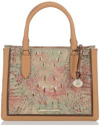 Brahmin - Amal Collection Small Camille Colorblock Satchel - Lyst