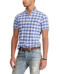 Polo Ralph Lauren - Big & Tall Plaid Short-sleeve Woven Shirt - Lyst