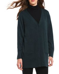 Eileen Fisher - V-neck Snap Front Cardigan - Lyst