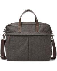 Fossil - Buckner Nylon Briefcase - Lyst