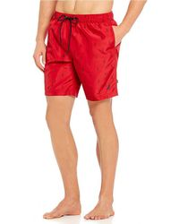 Nautica - Quick Dry Anchors Swim Trunks - Lyst