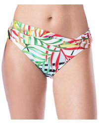 Kenneth Cole - Exotic Palm Wrap Waistband Hipster Bikini Swimsuit Bottom - Lyst