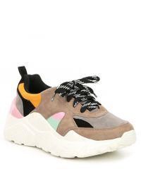 Gianni Bini - Troye Chunky Lace-up Sneakers - Lyst