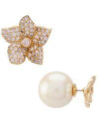 Kate Spade - Pave Bloom Reversible Earrings - Lyst