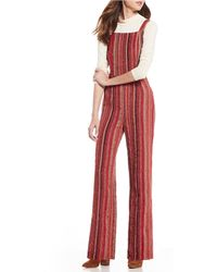 71fd1856ad2 Sugarlips - Multi Stripe Corduory Jumpsuit - Lyst