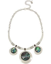 Robert Lee Morris - Abalone Disc Drop Frontal Necklace - Lyst