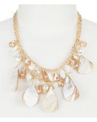 Dillard's - Tailored Seashell Mix Statement Necklace - Lyst