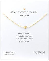 Dogeared - Heart Charm Bracelet - Lyst