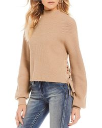 Chelsea & Violet - Lace Up Side Sweater - Lyst