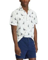 Polo Ralph Lauren - Sailboat Print Knit Oxford Short-sleeve Polo Shirt - Lyst