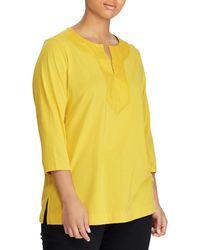 Lauren by Ralph Lauren - Plus Size Cotton Top - Lyst