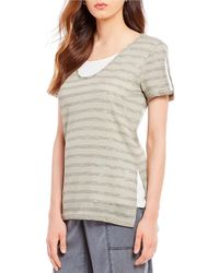 Jones New York - V-neck Layered Knit Tunic - Lyst