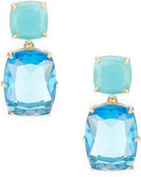 Carolee - Cushion Cut Earrings - Lyst
