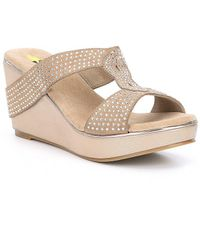 Volatile - Rhiannon Suede Wedge Sandals - Lyst