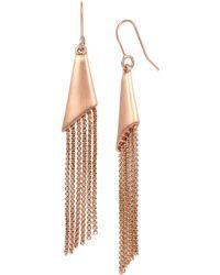 Kenneth Cole - Geometric Chain Fringe Drop Earrings - Lyst