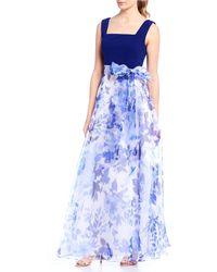 14d3c4e3b3 Eliza J Floral Shift Dress in Blue - Lyst